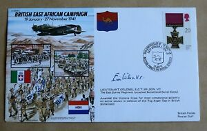 WW2 BRITISH EAST AFRICAN CAMPAIGN 1991 COVER SIGNED BY VC WINNER ERIC WILSON