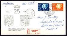 Dutch Antilles - 1962 Silver wedding -  Mi. 118-19 addressed FDC (E19)-3