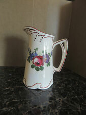 Vintage Pottery, 'Czecho Slovakia' 5 3/4  Pitcher from 1930 small with handle