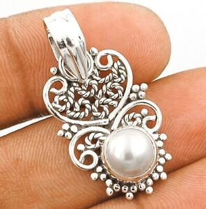 Fresh Water Pearl 925 Solid Sterling Silver Pendant Jewelry K5-2