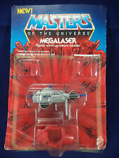Vintage Masters of the Universe MEGALASER With Card & Bubble HE-MAN at Arms MOTU