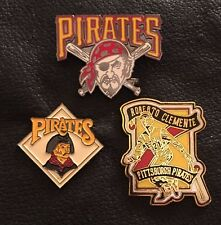 Set~Lot~3~MLB Pittsburgh Pirates Collector Pins~Cross Bats~Roberto Clemente~NOS