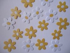 20 DAISY EMBELLISHMENTS ~YELLOW AND WHITE ~DIE CUTS ~ FLOWERS DAISIES GARDEN