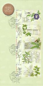 SINGAPORE 2021 HERBS & SPICES FIRST DAY COVER WITH MYSTAMP SETENANT SET 5 STAMPS