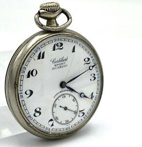 Vintage Pocket Watch Cortebert Sport Mechanical Cal 534 Original Swiss Works