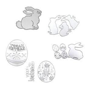 Easter Die Cut Egg Bunny Cutting Dies Hollow Stencils For DIY Scrapbooking Album