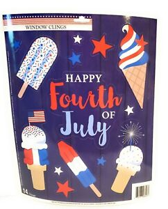 Patriotic USA July 4th Window Clings New
