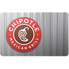 Chipotle Gift Card $50 Value, Only $47.00! Free Shipping!