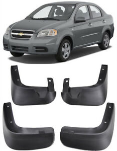 OEM Sport Splash Guards Mud Guards Flaps For 2007-2011 CHEVROLET Aveo Sedan T250