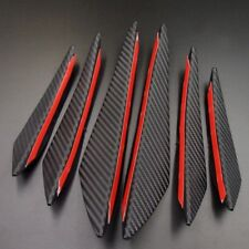 6pcs Universal Carbon Fiber Front Bumper Lip Splitter Body Spoiler Canards Kit