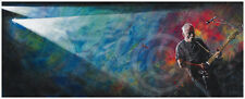 "DAVID GILMOUR Pink Floyd  39"" x 15 5/8""  Art Print #133/700 Rattle That Lock"
