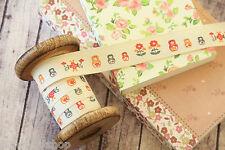 zakka RUSSIAN DOLLS matryoshka babushka 3m craft sewing tape fabric trim ribbon