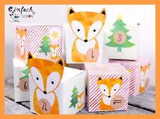 DIY Adventskalender Set zum Basteln mit Füchse BOXEN Set