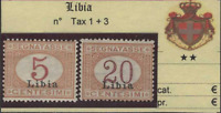 Italy Libia - Tax Sassone n. 1+3 MNH** (n.1 well centered)