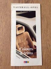 1988 Vauxhall Opel Colours & Trims Nova Astra Belmont Cavalier Manta Carlton Etc