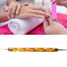 Spot Swirl Dotting Tool Doppelkugel Kugelstift Smileline Nailart Fineliner Gelb2