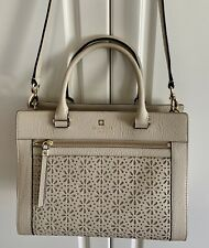 Kate Spade Leather Perri Lane Romy Creamadivie Satchel Messenger Bag