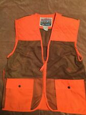 Field And Stream Hunting Vest Orange And Brown Mesh Mens Size XXL