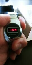 National Semiconductor Mens  RED LED digital Watch WORKS