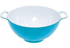"Two Tone Melamine Colander Small 6"" (700ml) *Blue & White*"