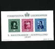 Mint Never Hinged/MNH Sheet Liechtenstein Stamps