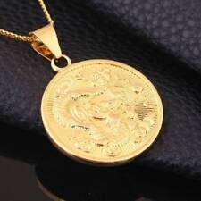1x 18K Gold Filled Golden Dragon Pendant Necklace Chain Solid Men Jewelry