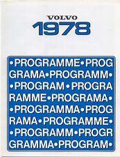 Volvo Range 66 244 245 264 265 1977-78 Original UK Brochure No. RSP/PV 5336-78