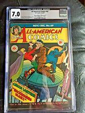 ALL AMERICAN COMICS #69 CGC FN/VF 7.0; OW; Reinman Green Lantern cvr! D Copy!