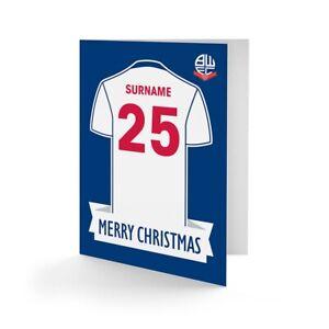 Bolton Wanderers f. C. - Personalisiert Ggückwunschkarte (Hemd)