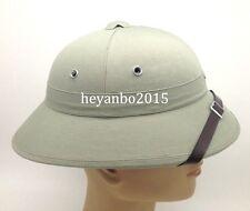 Army DAK Afrika Korps Tropical Pith Helmet Cap Gray