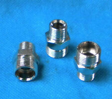 """Pipe 1/8"""" NPT Male to M12 M12X1 male Metric Adapter Fitting Oil Fuel Air N-AD"""