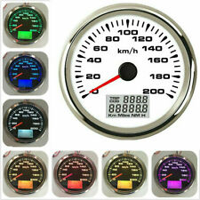 85mm 7 Colors LED Backlight GPS Speedometer Gauge Tuning LCD Odometer 200KM/H