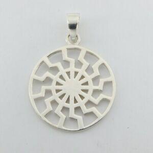 925 SILVER STERLING - Nordic Sun PENDANT - Silver Jewelry #p105