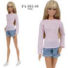 FA 015-01 pink longsleeve T-shirt for Barbie MTM Pivotal Poppy Parker 12''dolls