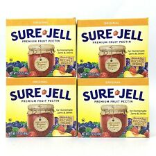 4 Pack Sure-Jell Original Premium Fruit Pectin 100% Natural 1.75 oz Exp 6/23 Jam