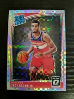 TROY BROWN JR 2018-19 DONRUSS OPTIC CHECKERBOARD PRIZM SSP RC #192 BULLS WIZARDS
