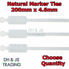 Natural Marker Ties Cable Tie Marker I.D Tie Tag Write On Label 200mm x 4.6mm