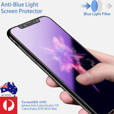 iPhone 11 X Xs Max XR 7 8 Plus Anti-Blue Light Tempered Glass Screen Protector