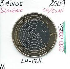 3 Euros - SLOVENIE - 2009 // Qualité: NEUVE (300 000 Ex)