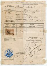 France Revenue Stamp And Document Roven 1889