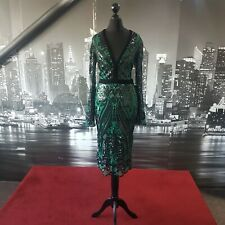 Sequinned  Dress (Green-Size 8) Prom, Cruise, Ball, Cocktail, Mother of Bride