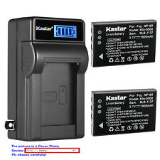 Kastar Battery LCD Wall Charger for Kodak KLIC-5000 & Kodak EasyShare LS443