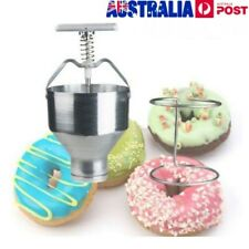 Manual Donut Depositor Dropper Plunger Dough Batter Dispenser Hopper Maker AU