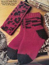 FALL Leopard Socks & Headband/Apparel/ Crochet Pattern Instructions