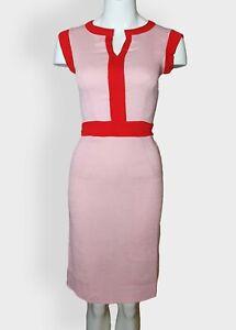 Vintage Style 1950s 1960s 100% Cotton Retro Pencil Dress With Mandarin Collar