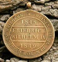 MEDAILLE Preußen 1848-49 Vom Fels zum Meer Eisernes Kreuz Bronze 1851 Wilhelm IV