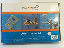 TRUE LIVING Swim Combo Set  Beach Ball - Swim Ring - Surf Mat - Repair Patch
