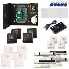 4 Door Entry Access Control Kit & Enroll RFID USB Reader+ EM Lock +Keypad Reader