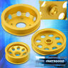 For Nissan 240Sx S14 S15 SR20 3PCS JDM Engine Motor Underdrive Crank Pulley Gold