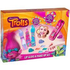 Trolls Lip Gloss and Make Up Set - Lip Glosses, Eye Shadows and Glitter Gels